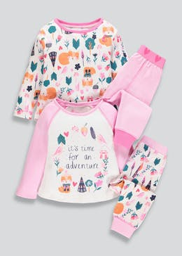 Girls 2 Pack Adventure Pyjamas (9mths-5yrs)