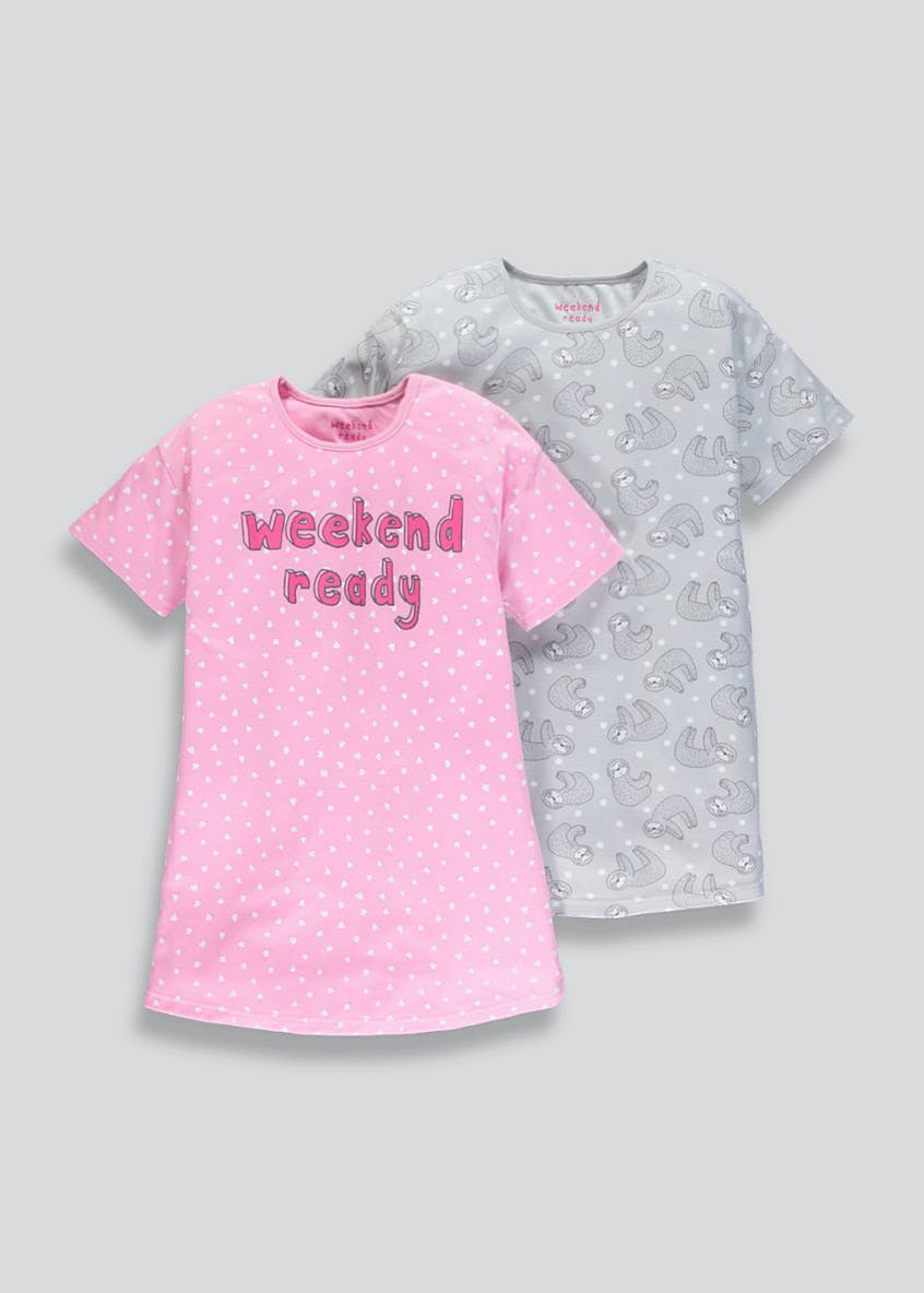 Girls 2 Pack Nighties (4-13yrs)