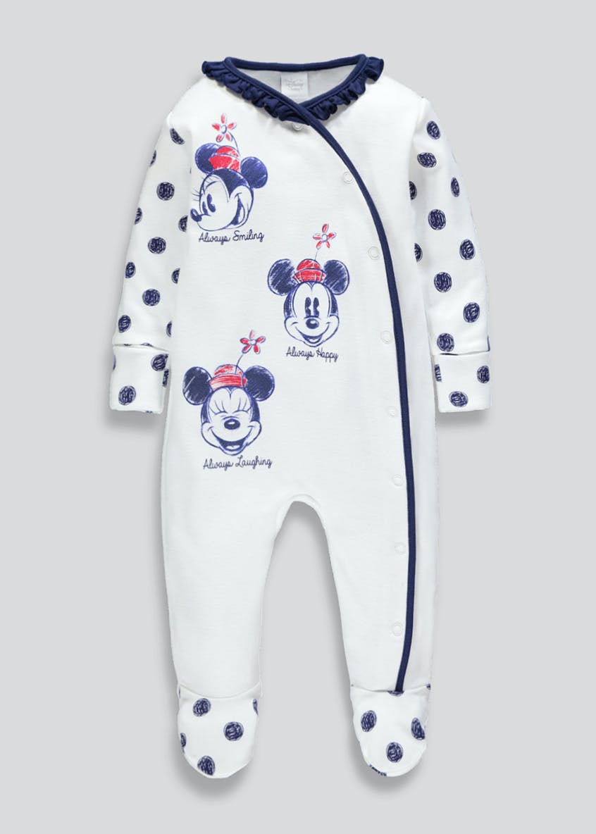 Unisex Disney Minnie Mouse Baby Grow (Newborn-12mths)