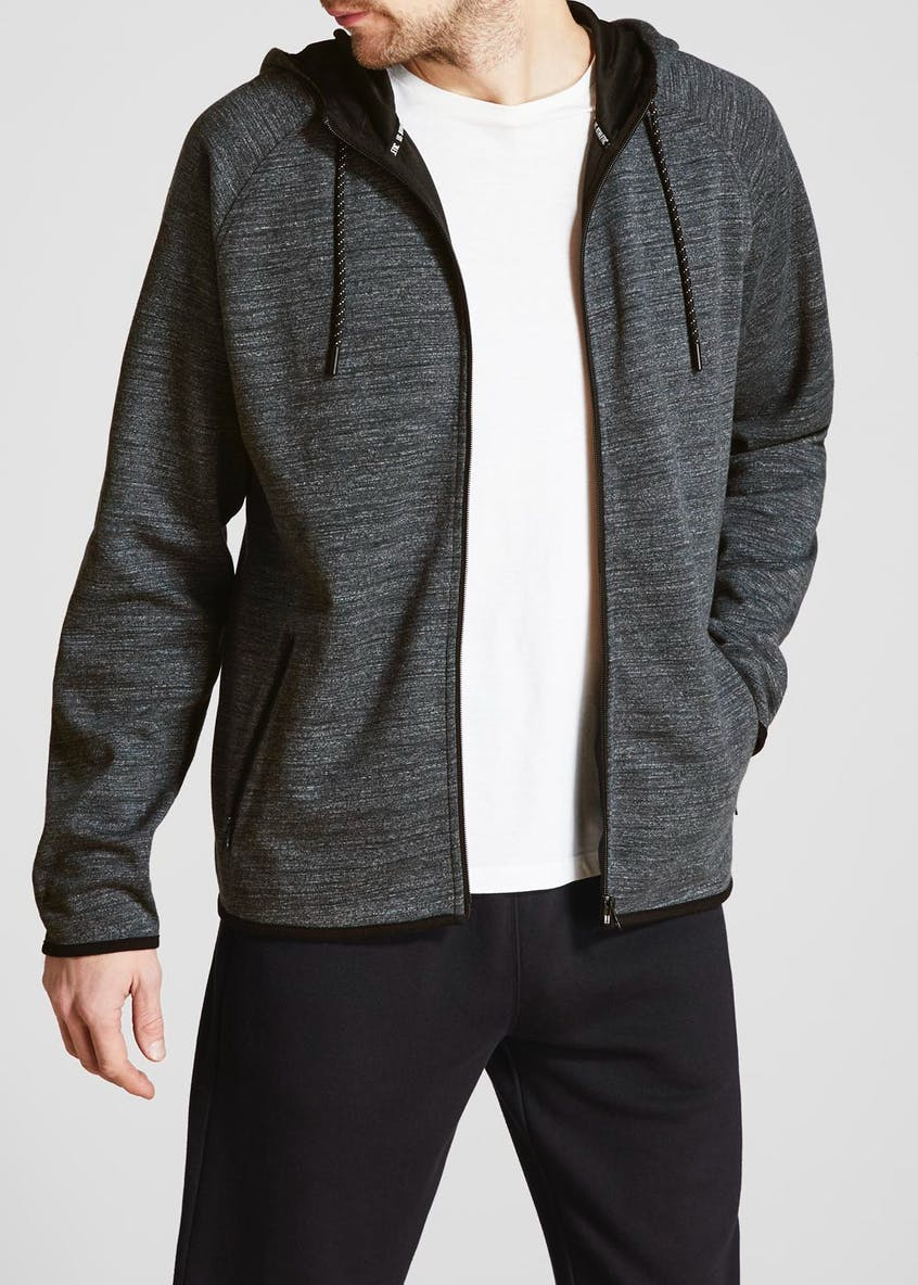US Athletic Fine Stripe Zip Through Hoodie