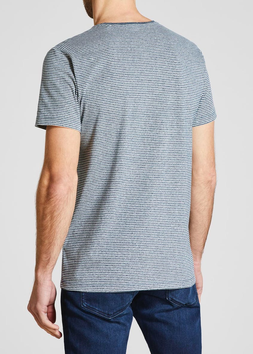 Basic Stripe Crew Neck T-Shirt