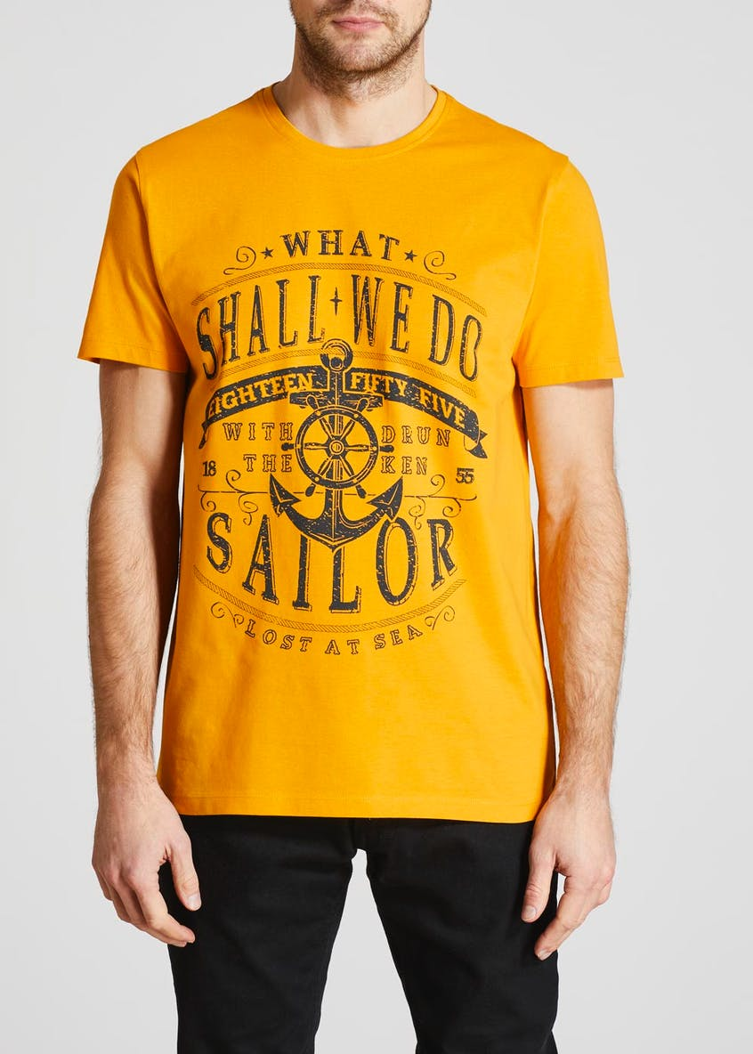 Dockland Sailor Slogan Graphic T-Shirt