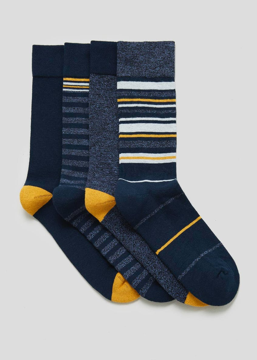 4 Pack Stripe Comfort Socks