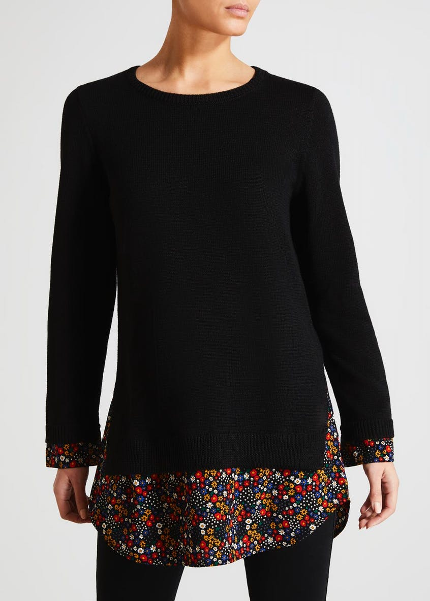 2 in 1 Ditsy Floral Tunic Jumper