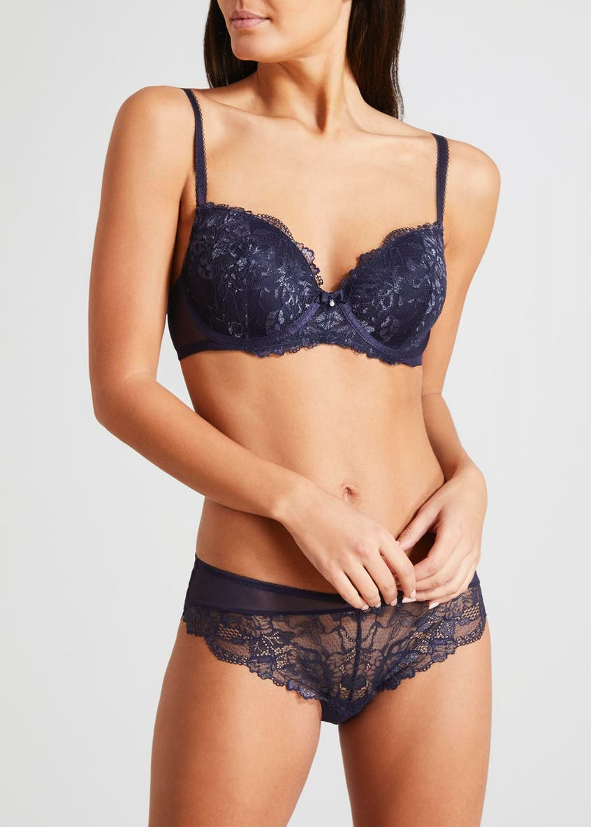Lurex Lace Trim Bra
