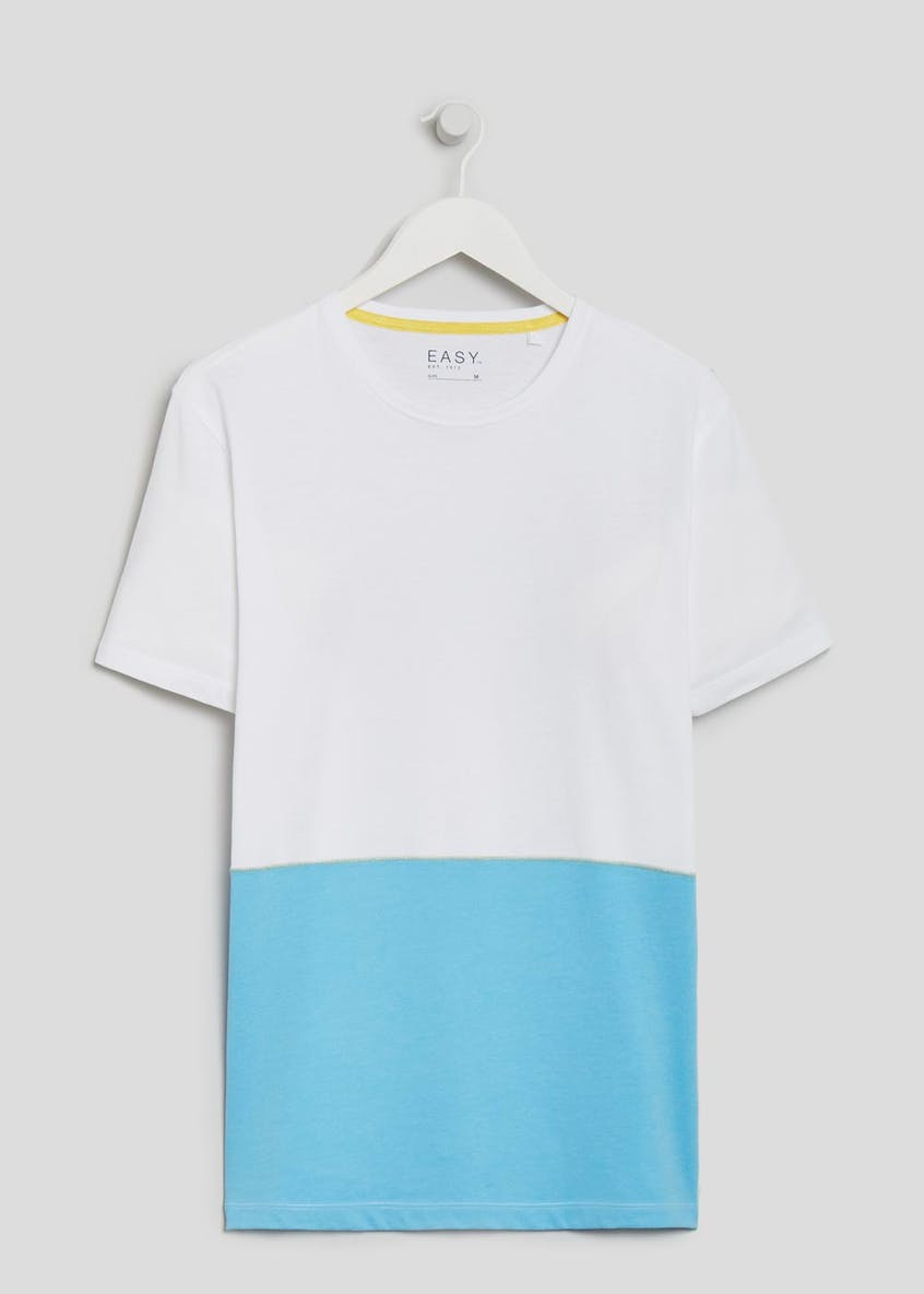 Cut & Sew Block Colour T-Shirt