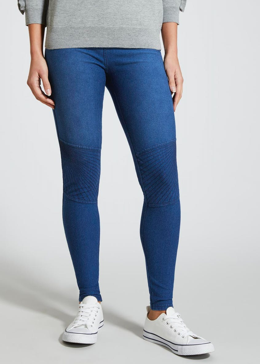Denim Biker Leggings