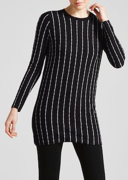 Textured Stripe Tunic Jumper