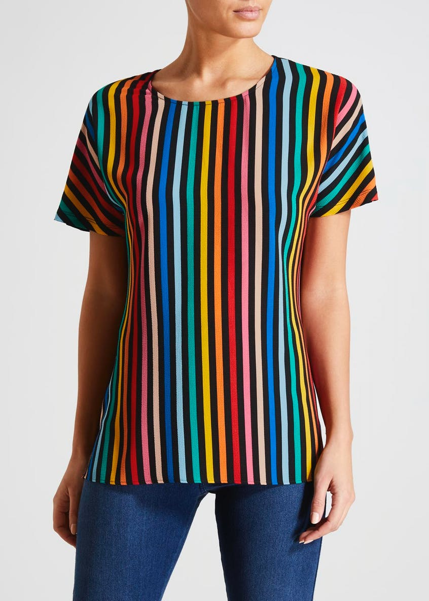 Stripe Woven Front Top