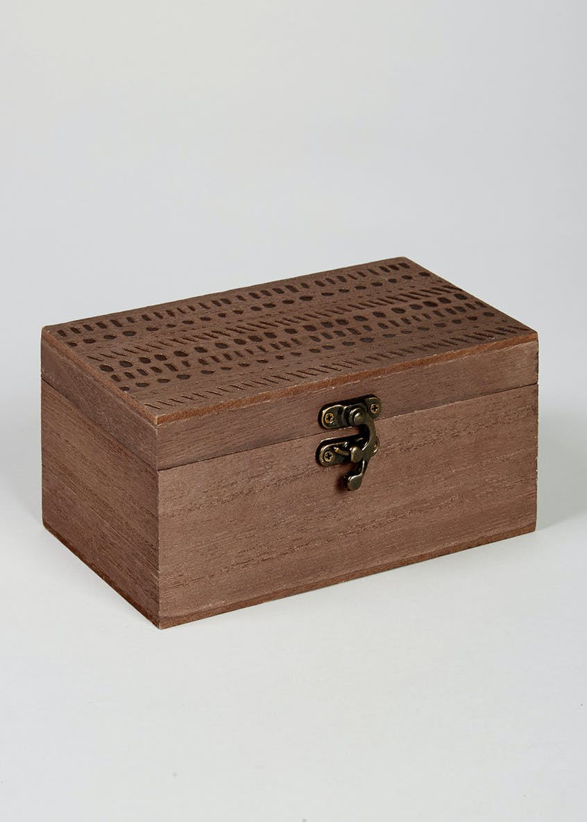 Wooden Trinket Box (17cm x 10cm x 8cm)