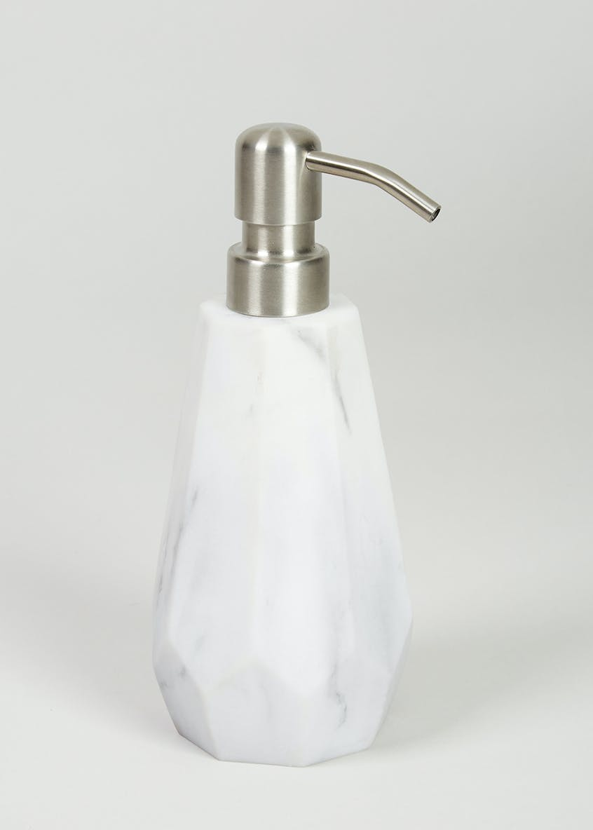 Marble Effect Soap Dispenser (18cm x 6cm)