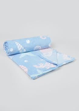 Mermaid Fleece Throw (150cm x 130cm)