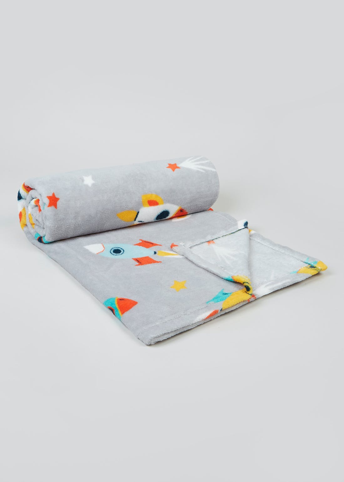 Kids Space Print Fleece Throw (150cm x 130cm)
