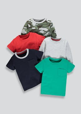 Kids 5 Pack T-Shirts (9mths-6yrs)