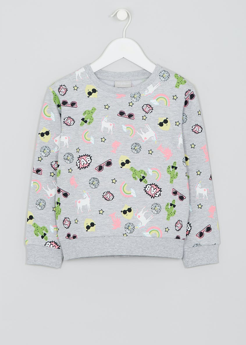 Girls Unicorn Sweatshirt (4-13yrs)