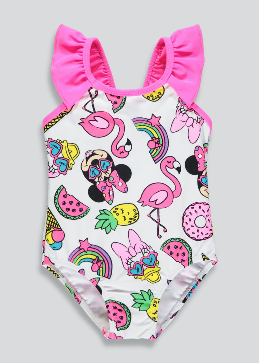 Girls Disney Minnie Mouse Swimming Costume (3mths-7yrs)