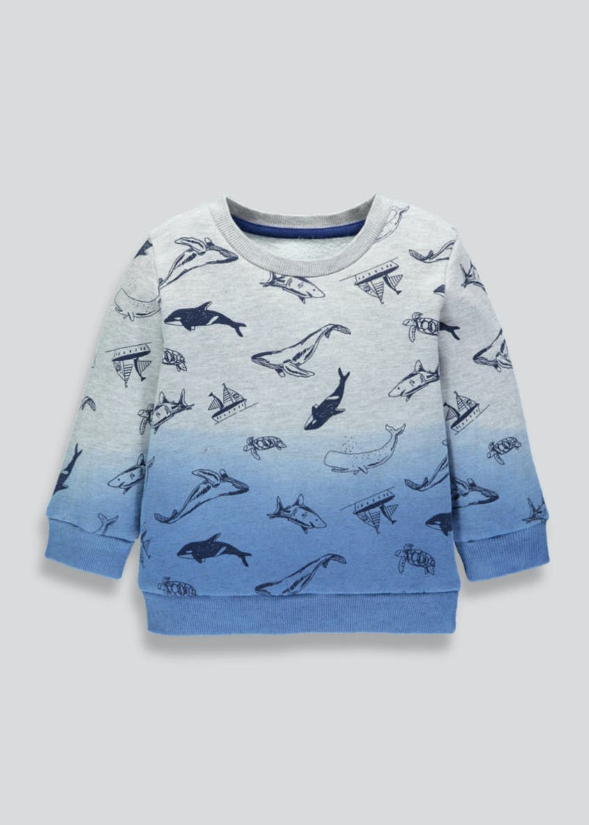 Kids Whale & Shark Sweatshirt (9mths-6yrs)