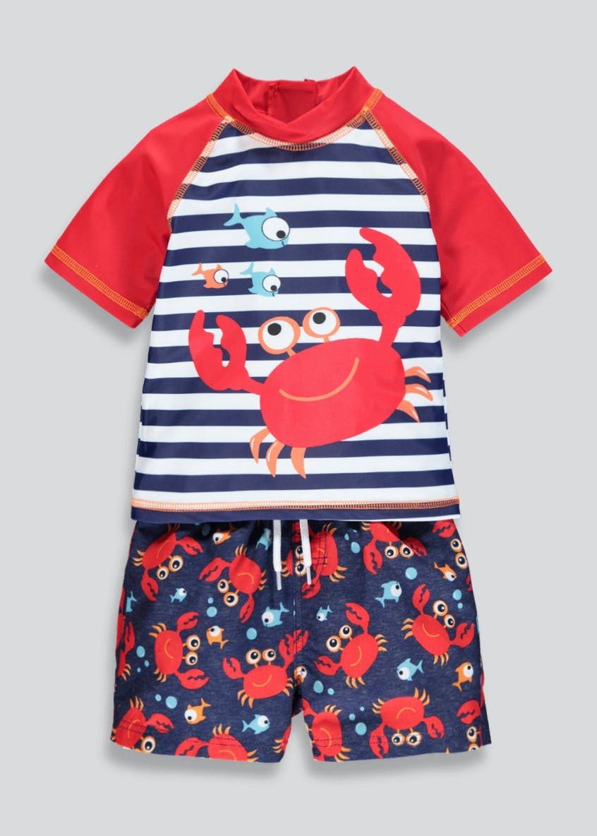 Kids Swim Rash Vest & Shorts Set (6mths-6yrs)