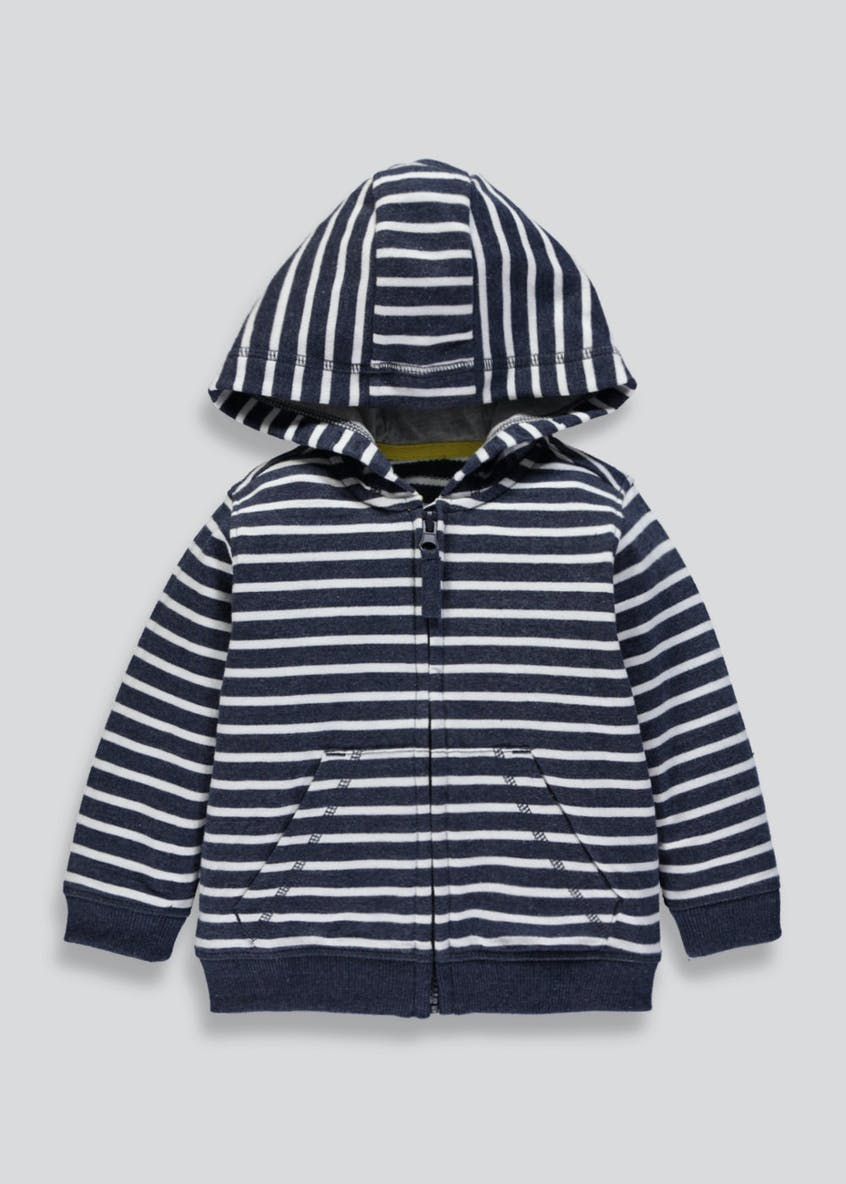 Kids Stripe Zip Through Hoodie (9mths-6yrs)