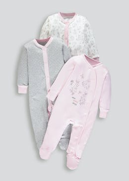 Unisex 3 Pack Baby Grows (Tiny Baby-18mths)