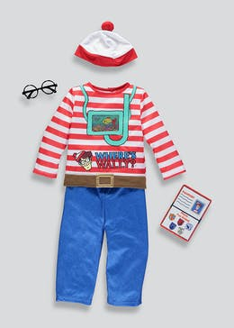 Kids Where's Wally Fancy Dress Costume (3-9yrs)