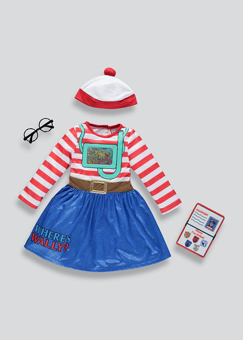 Kids Where's Wenda Fancy Dress Costume (3-9yrs)