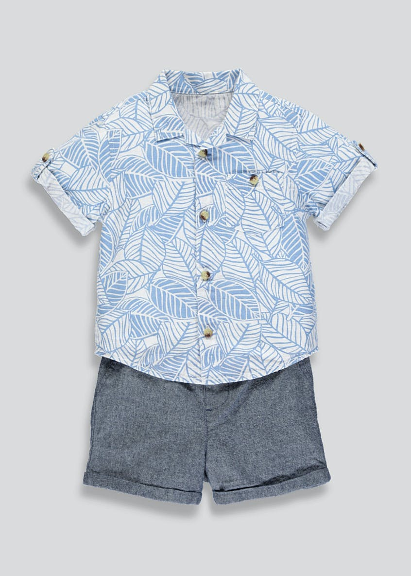 Boys Printed Shirt & Shorts Set (9mths-6yrs)