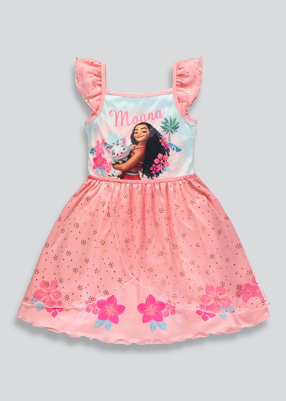 Girls Disney Moana Dress Up Nightie (2-9yrs)