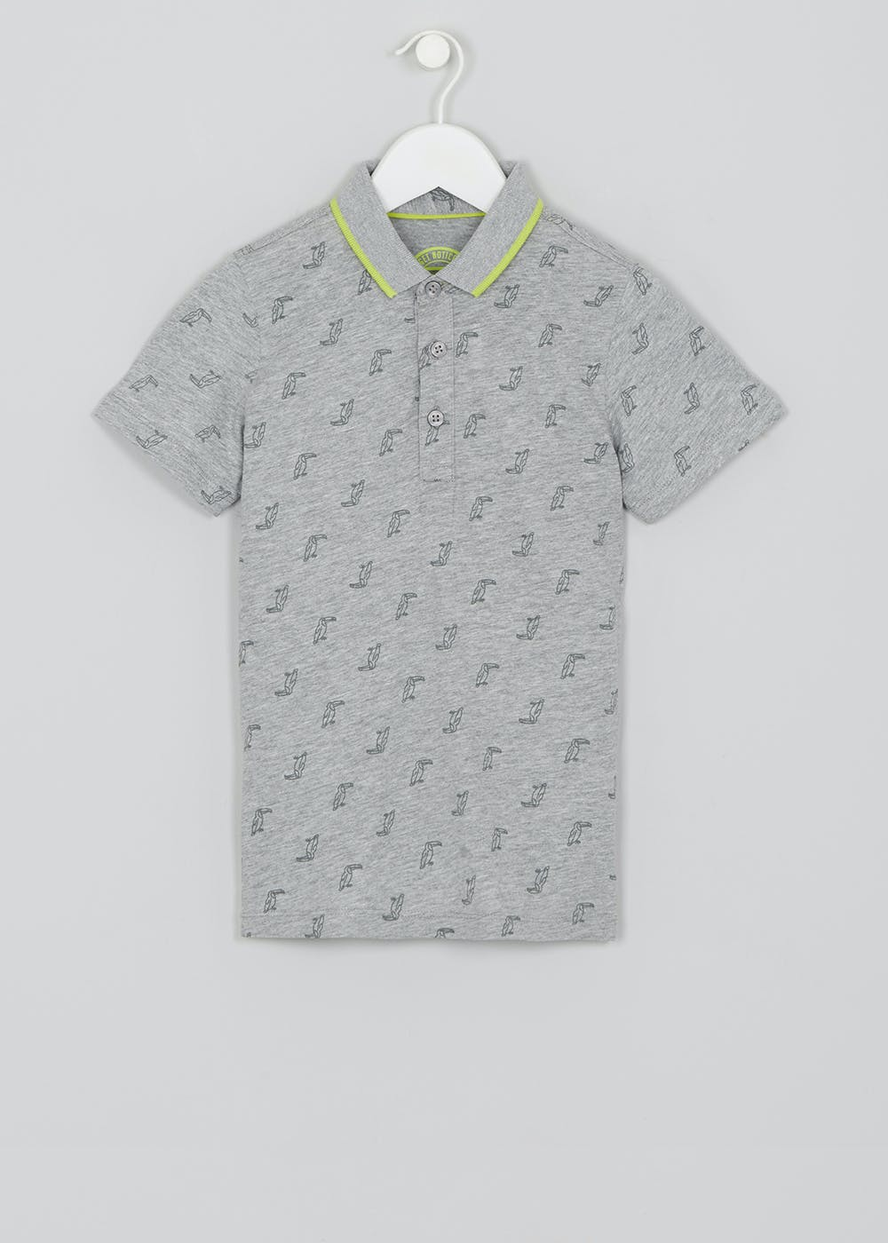 517d710f5 Boys Toucan Polo Shirt (4-13yrs) – Grey – Matalan