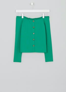 Girls Candy Couture Ribbed Bardot Top (9-16yrs)