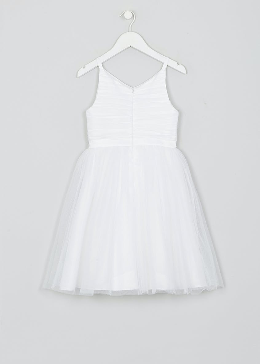 Girls Strappy Embellished Flower Girl Dress (12mths-13yrs)