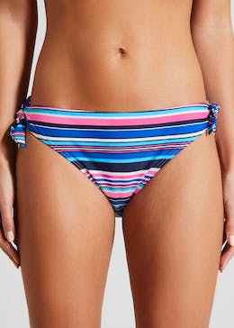 Stripe Twist Bikini Bottoms