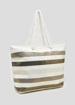 Stripe Tote Beach Bag