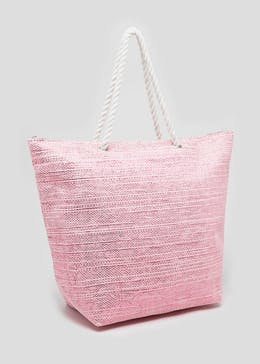 Metallic Rope Beach Bag