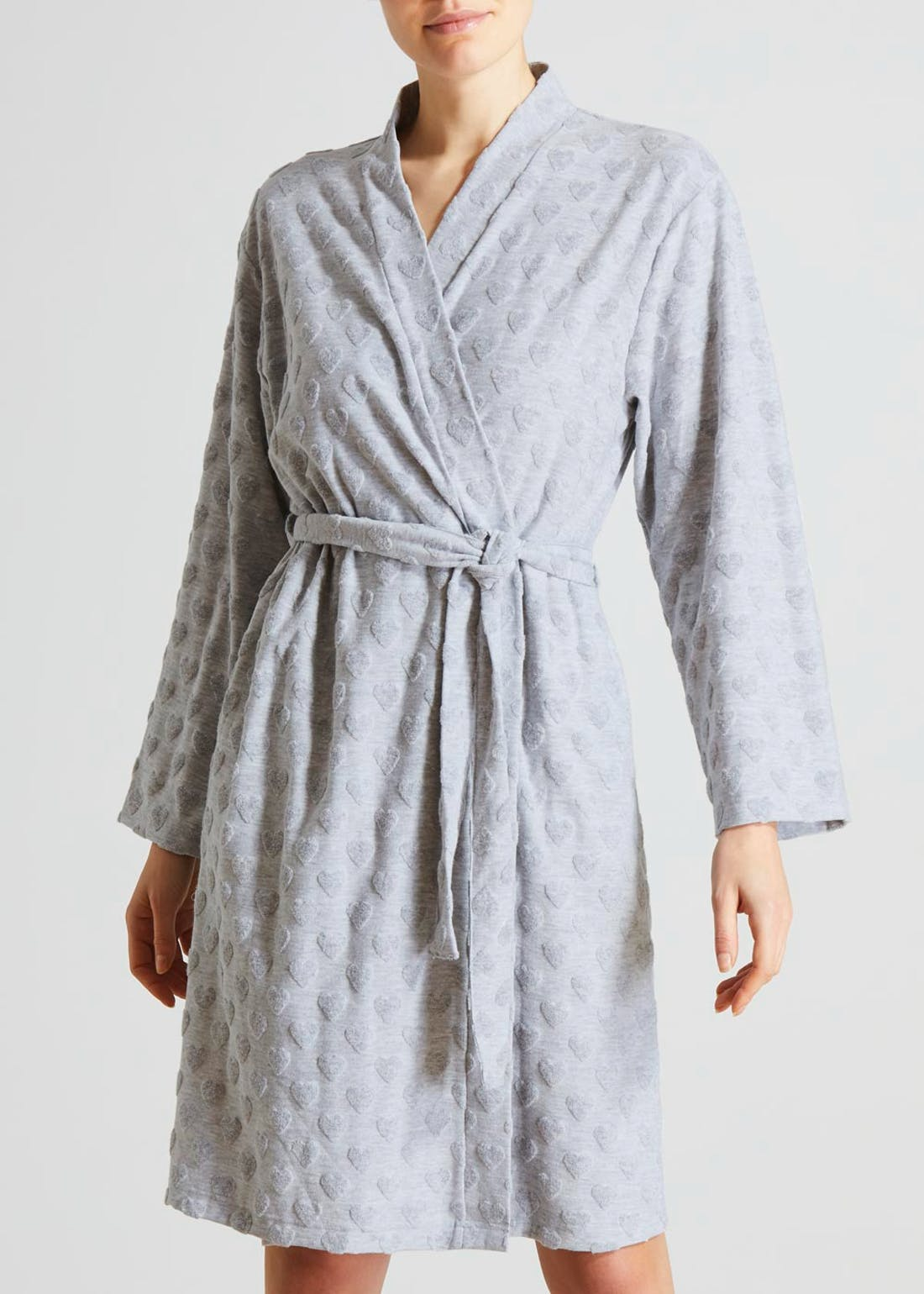 Heart Embossed Dressing Gown