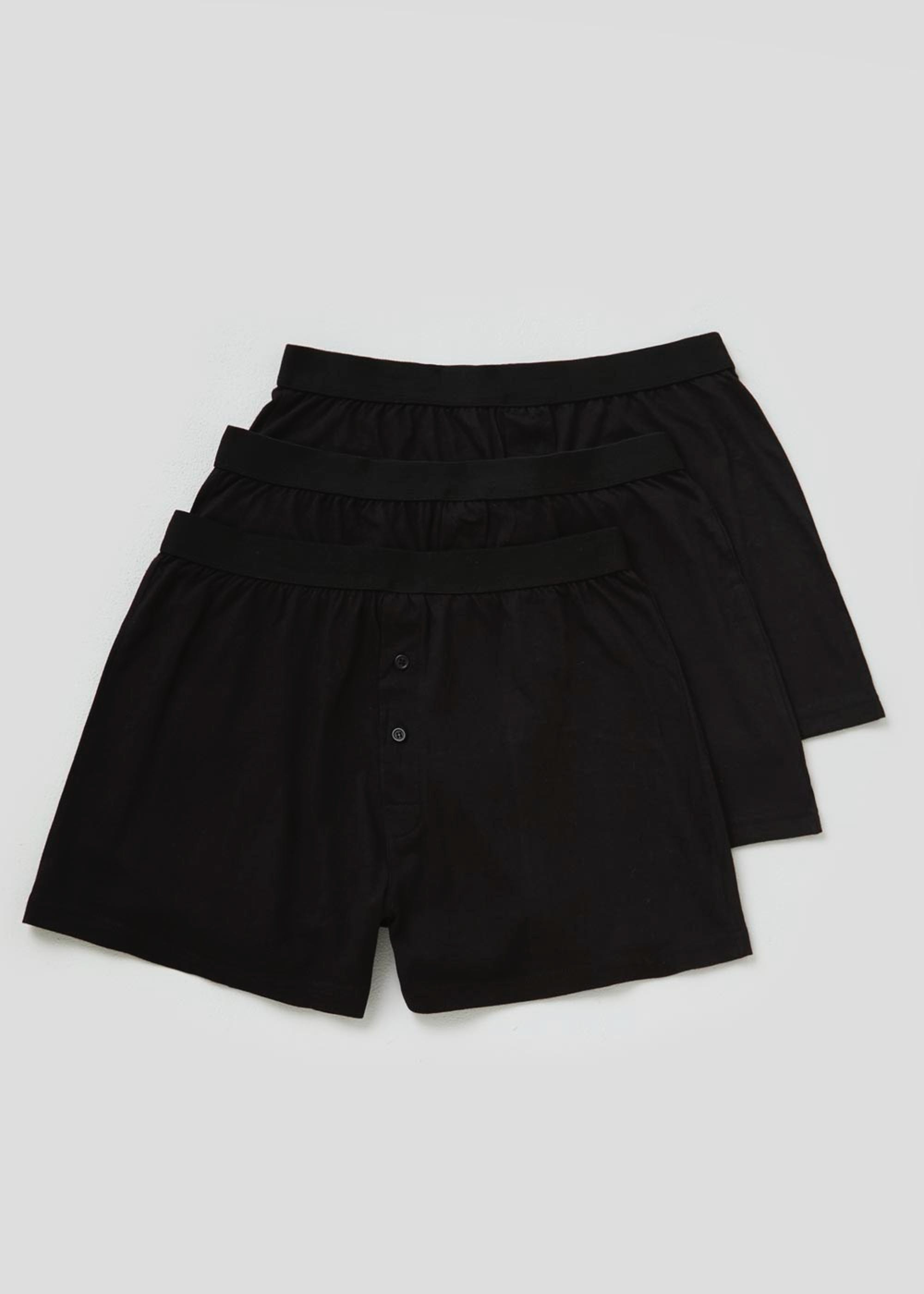 3 Pack Loose Fit Boxers Black bW8p1x