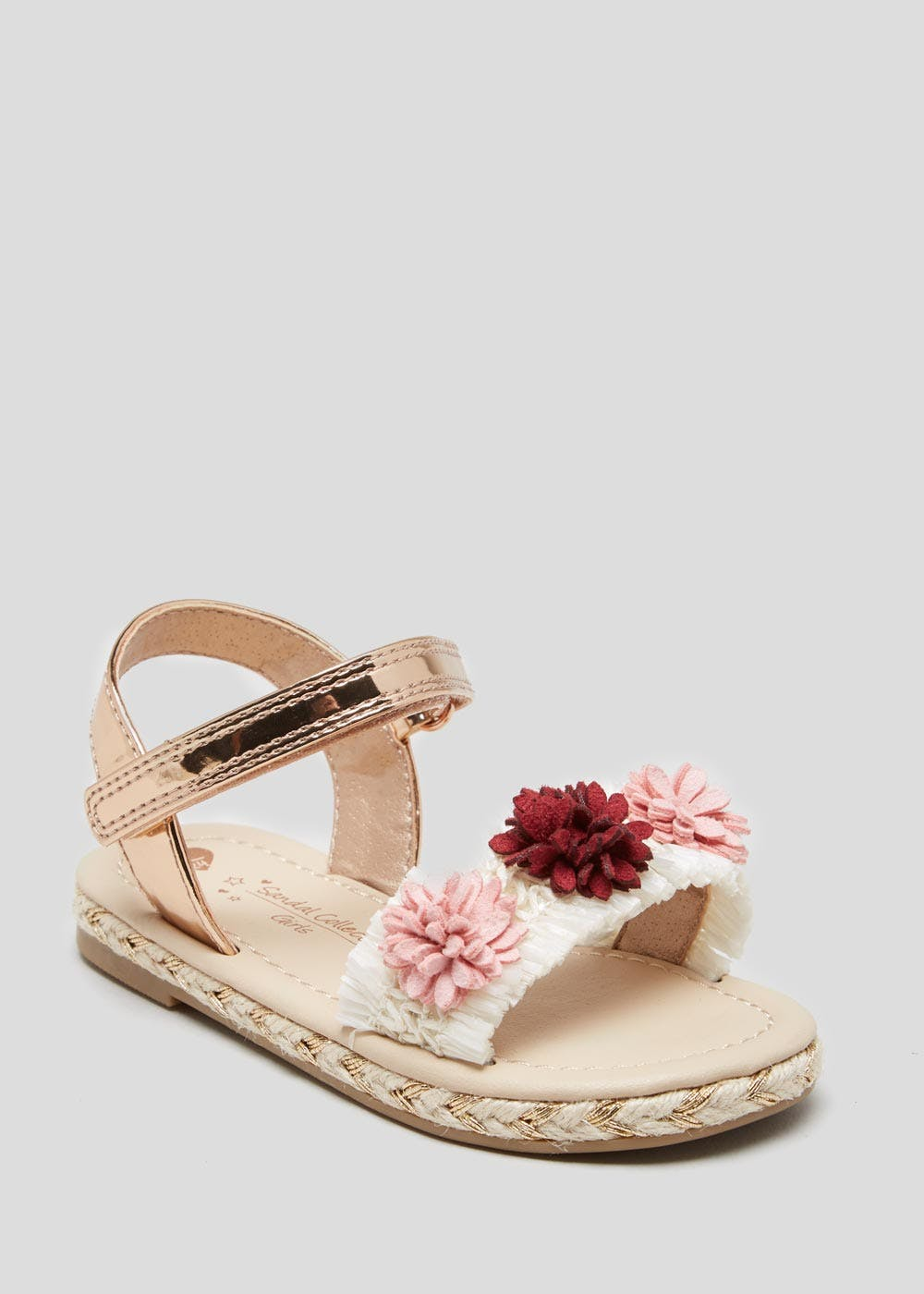 ae75acd3530f10 Matalan · Girls Flower Embellished Espadrille Sandals (Younger 4-12)