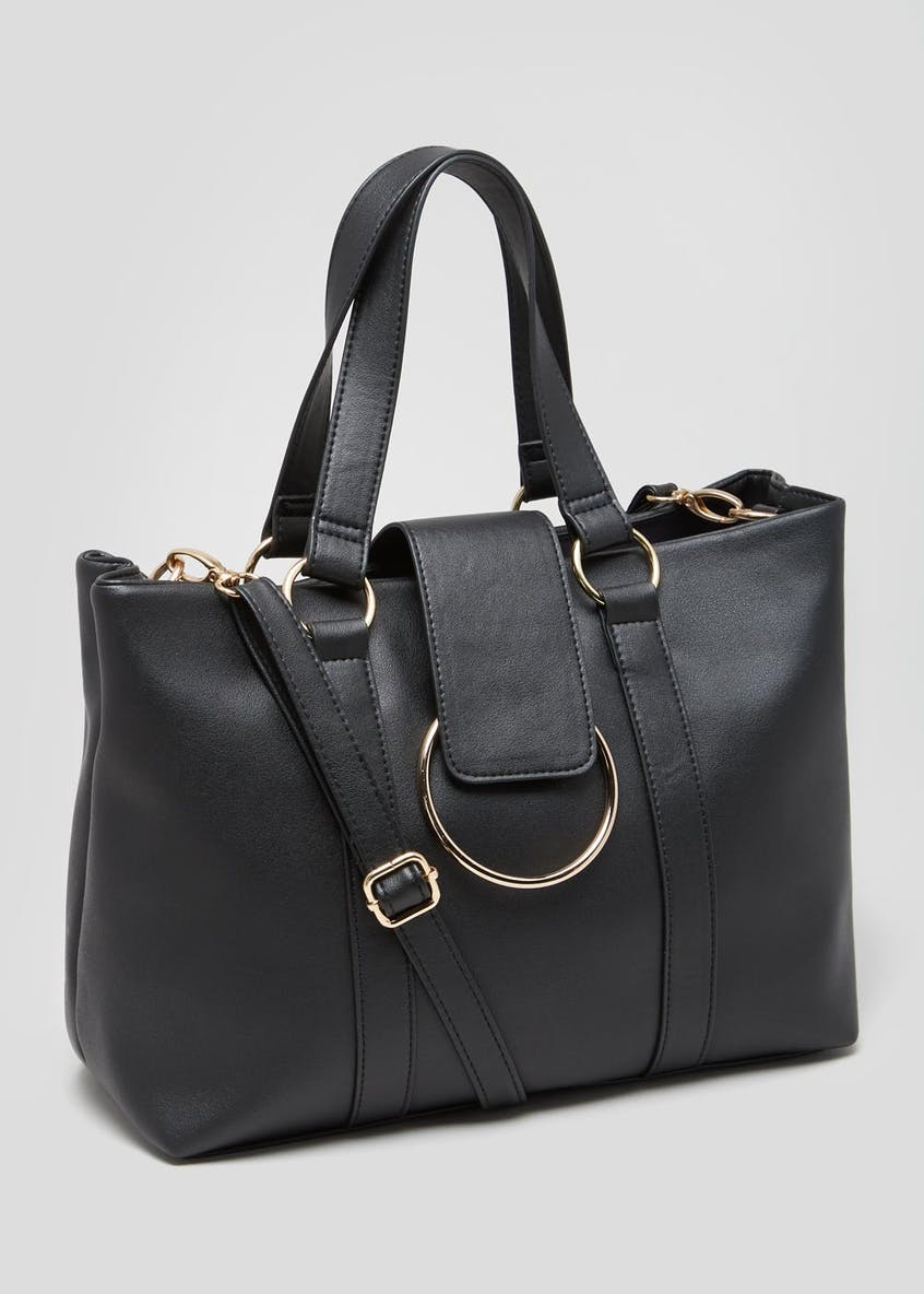 D Ring Buckle Tote Bag