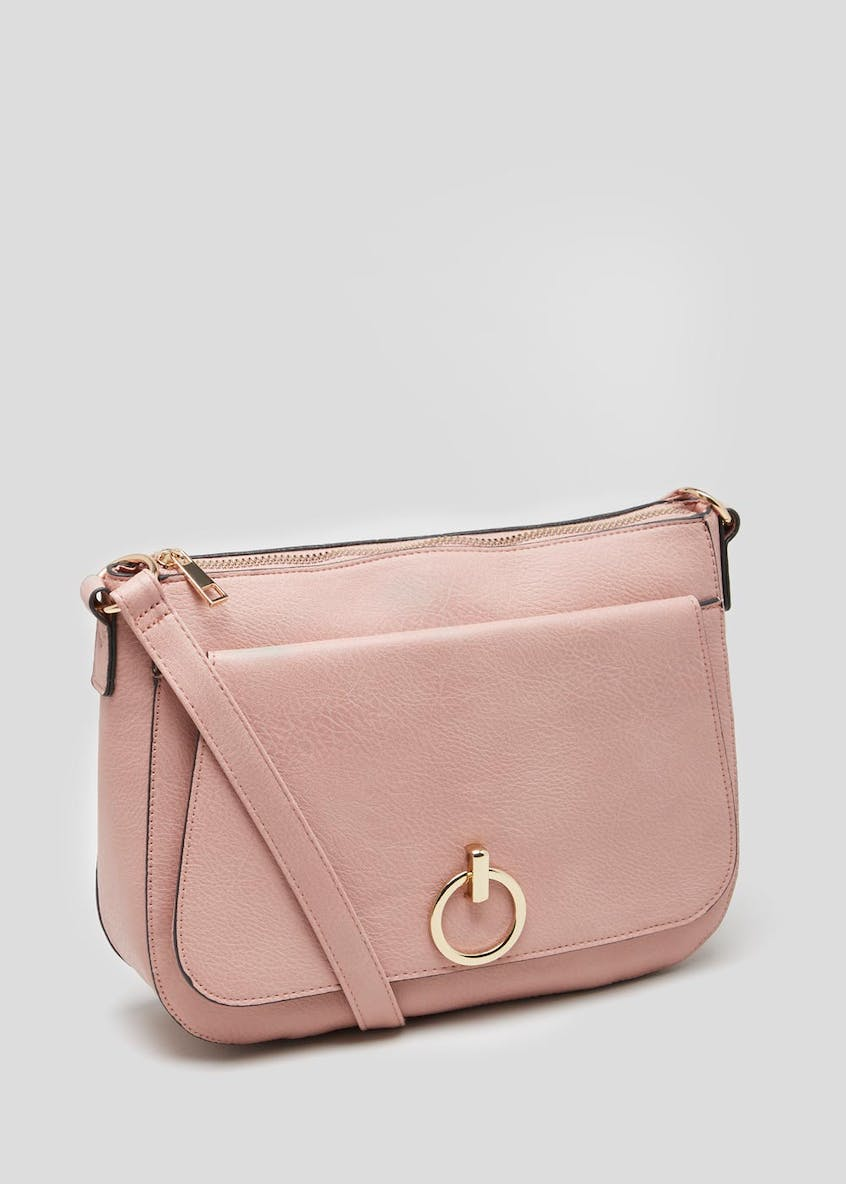 Metal Lock Shoulder Bag