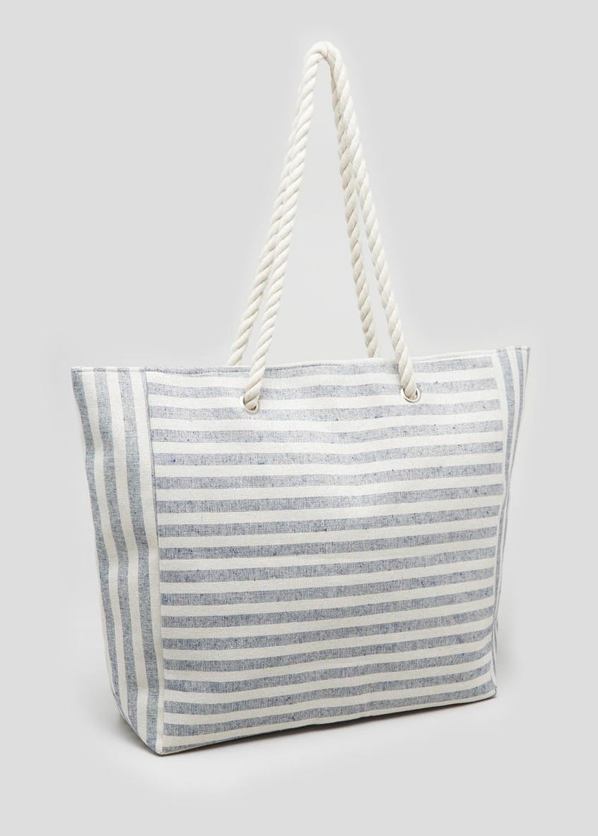 Soft Stripe Rope Beach Bag