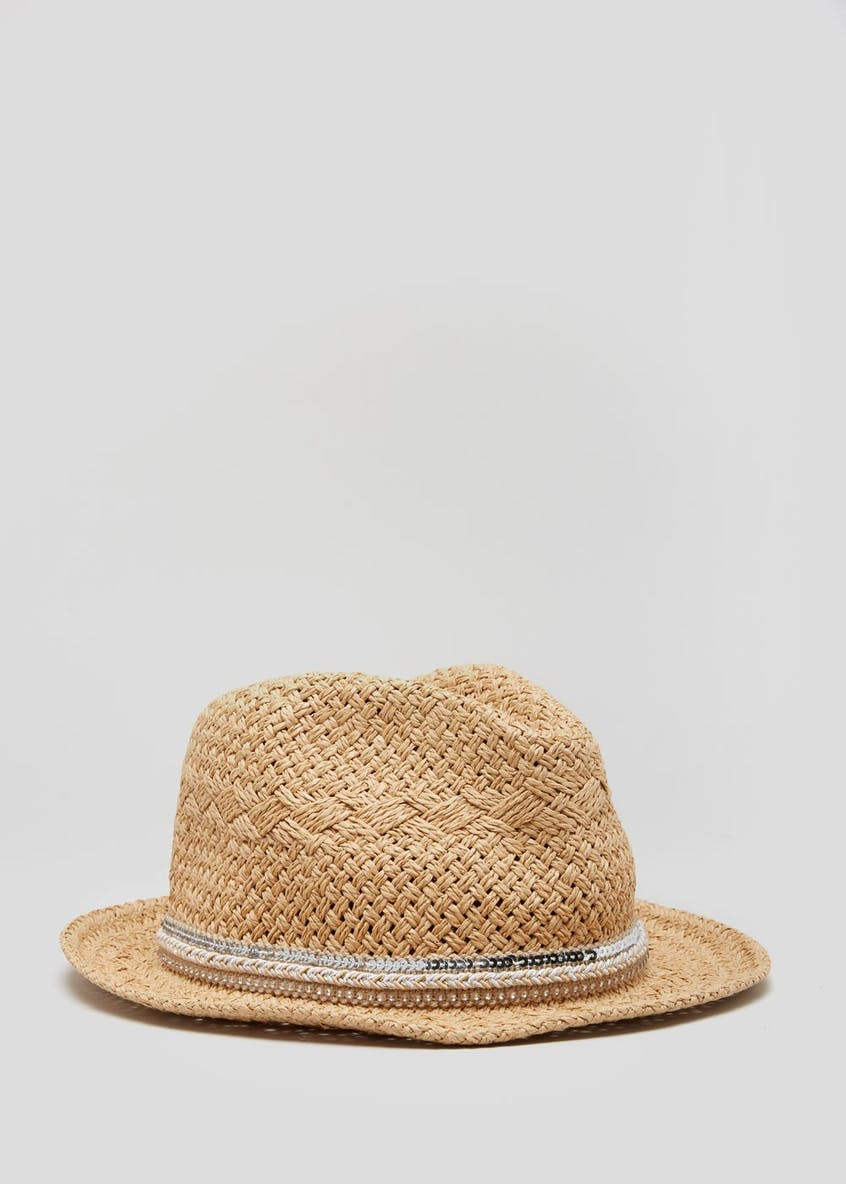 Sequin Straw Fedora