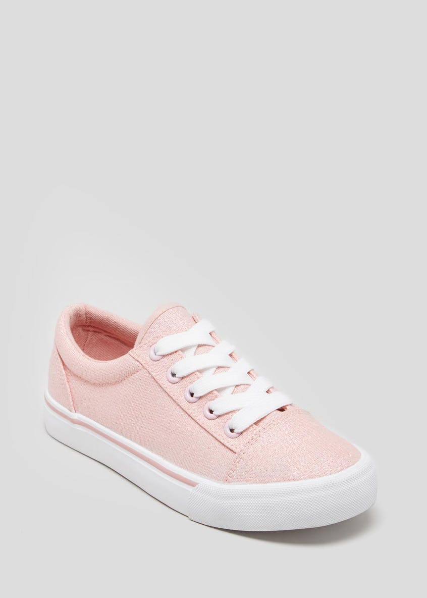 Girls Shimmer Lace Up Trainers (Younger 10-Older 5)