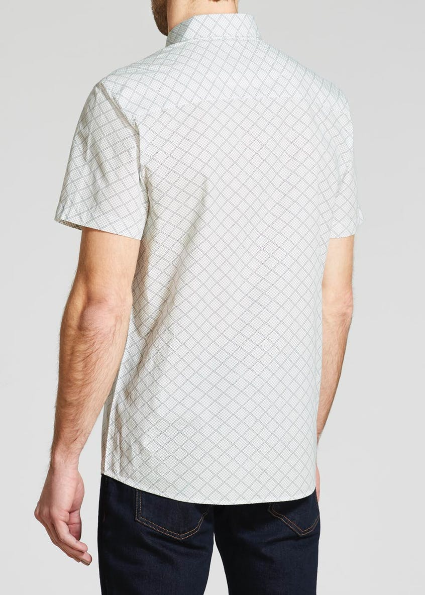 100% Cotton Geo Print Short Sleeve Shirt