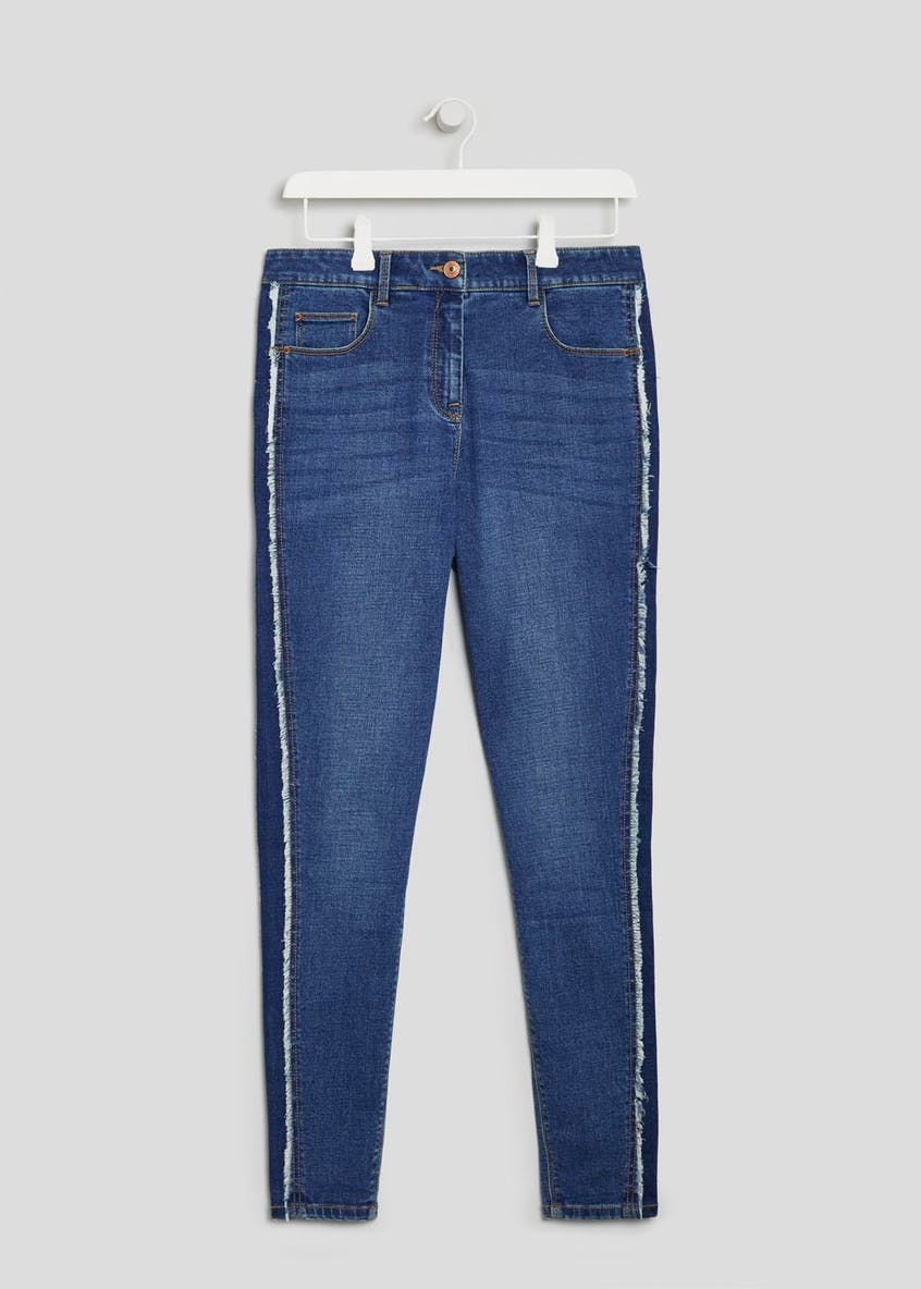 April Super Skinny Frayed Side Stripe Jeans