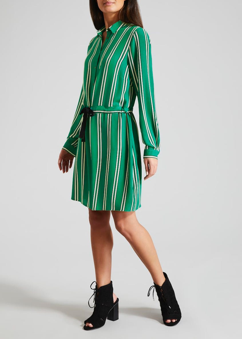 Stripe Shirt Dress