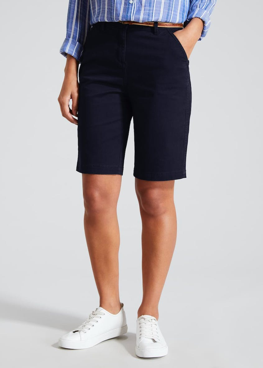 Chino Knee Length Bermuda Shorts