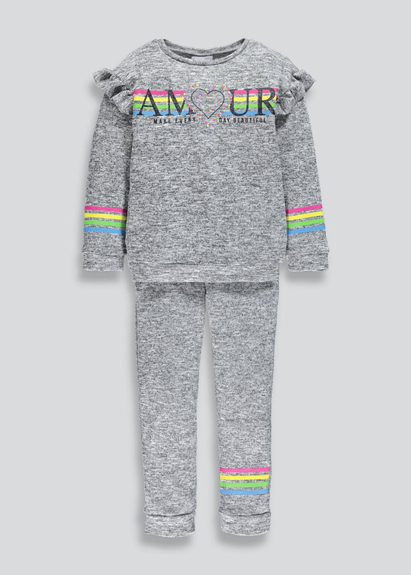 Girls Rainbow Snit Jogging Set (4-13yrs)