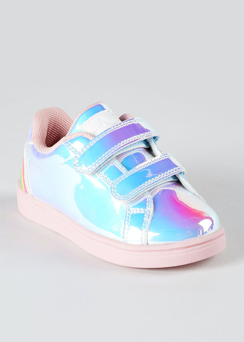 Kids Rainbow Iridescent Trainers (Younger 4-12)