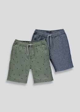 Boys 2 Pack Woven Shorts (9mths-3yrs)