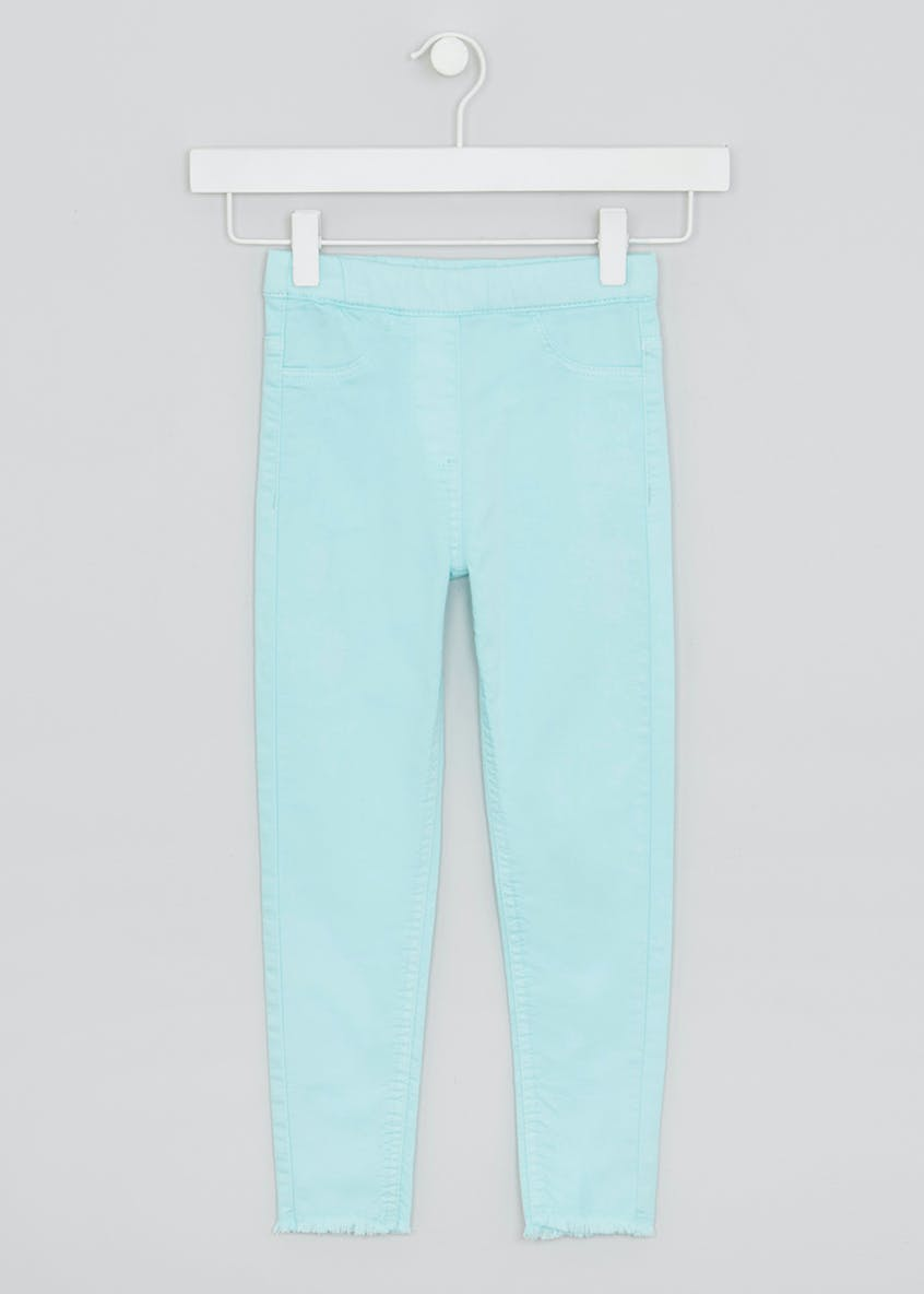 Girls Frayed Hem Jeggings (4-13yrs)